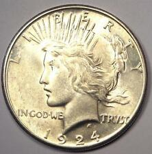 1924-S Peace Silver Dollar $1 - Excellent Condition - Nice Luster - Rare Date!