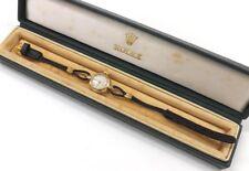 ANTIQUE VINTAGE 1954 ROLEX SWISS SOLID GOLD WATCH & ORIGINAL ROLEX BOX WORKING