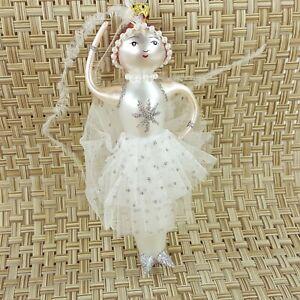 "Dept 56 Beaux Arts 6"" Ballerina Dancer Glass Figurine Ornament TuTu Glitter NEW"