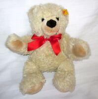 """STEIFF GOLDEN BEAR 12"""" PLUSH EAR BUTTON NON JOINTED # 013720 TEDDY CUB DOLL"""