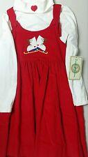 Peaches 'n Cream girls red dress, ice skates size 6X NWT