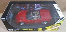 Hot Wheels Corvette C6 Convertible Dark Red Sport Car Die Cast 1:18 Scale NEW