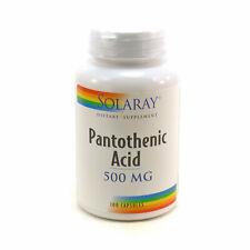 Pantothenic Acid-500 500 mg By Solaray - 100 Capsules