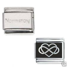 1 Infinity Heart Daisy Charm 1x Genuine Nomination. Italian Bracelet Link Bundle