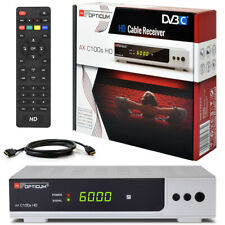 Opticum C100 Digital Kabelreceiver KABEL Receiver DVB-C HDTV HDMI HD USB silber
