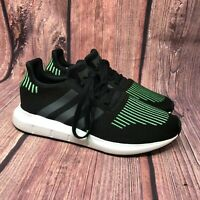 Adidas Swift Run Men's Athletic Black Green Running Athletic Sneakers Size 9