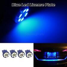 4x Blue LED Bulbs 6-SMD T10 Trunk License Plate Lamp Bulb T10 194 168 W5W