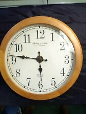 Sterling & Noble Clock Company Mfg, no 9, solid wood around clock