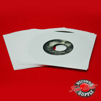 """(50) 7"""" Record Sleeves 45rpm White Paper 20# Acid Free ARCHIVAL"""