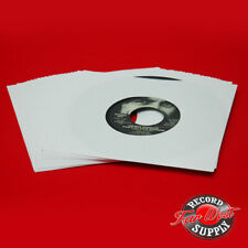 "(100) 7"" Record Sleeves 45rpm White Paper 20# Acid Free ARCHIVAL"
