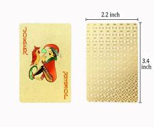Luxury 24K Gold Foil Poker Playing Cards Deck Carta Waterproof Board card game