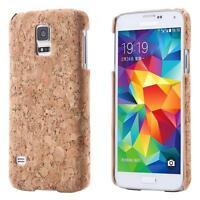 Samsung Galaxy S5 i9600 S5 Neo CORCHO FUNDA MADERA NATURAL HARD CASE CASO COVER