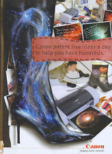 "Canon ""Patent Five Ideas A Day"" Printer 2001 Double Page Magazine Advert #939"