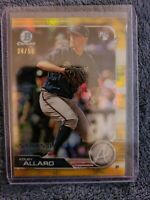 KOLBY ALLARD 2019 Bowman Chrome GOLD Refractor ROOKIE AUTO /50 Atlanta Braves