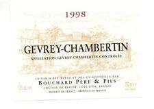 Etiquette de vin - GEVREY CHAMBERTIN 1998 - Domaine Bouchard Père et Fils  (190)