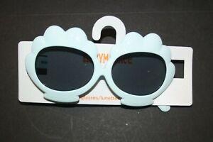 New Gymboree Clam Shell Mermaid Cove Sunglasses White Mint Green 4 & up Year