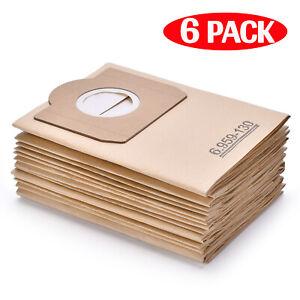 6x Vacuum Bags for KARCHER WD3 WD3.5P Premium MV3 MV3P WD3.300M WD3.330M A2504