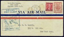 196 CANAL ZONE CZ TO US FFC FIRST FLIGHT PS COVER 1929 PANAM ANCON - MIAMI
