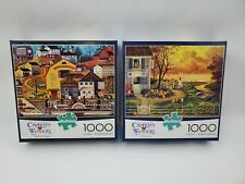 Charles Wysocki 1000 Piece Puzzles lot of 2 The Bostonian and Supper Call NEW