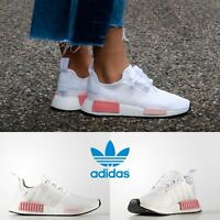 Adidas Original NMD R1 Running Sneakers White White Pink BY9952 SZ 4-11 Limited