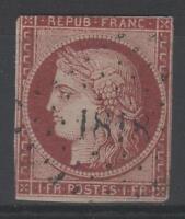 """FRANCE STAMP TIMBRE 6 """" CERES 1F CARMIN 1849 """" OBLITERE SIGNE A VOIR  P479"""