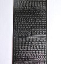 Schwarze Markenlose & Stickerbögen Bastel-Sticker