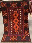 3.5X5 Handmade vintage Uzbek Maimana Vegetable Dye Natural Colors Wool Kellim