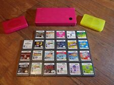 LOT OF 23 NINTENDO DS GAMES W/ NINTENDO DSi HANDHELD GAME SYSTEM (LOOK)