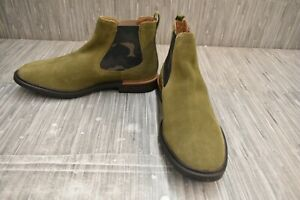 Hush Puppies Davis HM02077-322 Chelsea Ankle Boot, Men's Size 10.5W, Olive NEW