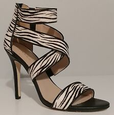 088289510d9 Nicole Miller Black Leather Zebra 4.5
