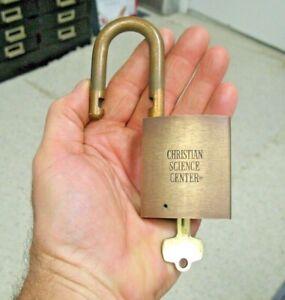 "BEST LOGO PADLOCK "" Christian Science Center ""/best lock/science advertising."