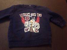 "George 0-3M Boys ""Born To Be Wild"" Navy Sweater"
