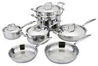 All-Ply 11pc Cookware Set 18/10 Copper core, Multi Ply, 5-Ply, Pots