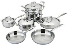 All-Ply 11pc Cookware Set 18/10 Copper core, Multi Ply, 5-Ply, All Clad, Pots