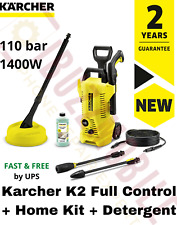 Karcher K2 Full Control +Home Kit 1400W Pressure Washer Car Patio + Detergent