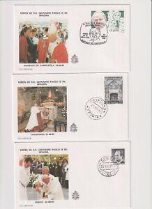 Papstreisen Johannes Paul II: August 1989 Spanien 5 Belege