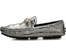 Mens Moccasin Gommino Slip On Driving Shoes Real Leather alligator print Loafers