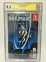 THE Uncanny Inhumans #15 CGC 8.5 SIGNATURE SERIES SIGNED JEFF DEKAL