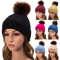 Fashion Women Beret Winter Warm Baggy Beanie Knit Flower Crochet Hat Slouch Cap