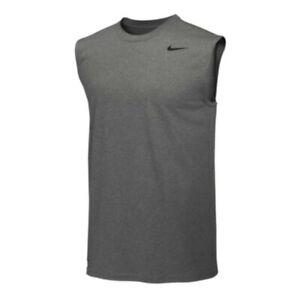 NWT Nike Gray Team Legend Dri-Fit Training Tank Top SIZE LARGE