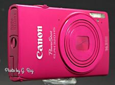 CANON ELPH 320 HS Red Mechanically Reconditioned Digital Camera-Touch Screen