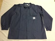Vtg Gm General Motors Heavy Denim Blue Garage Worker Factory Shirt Mens Large