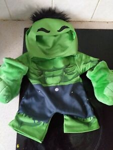 Build A Bear Workshop Hulk Outfit with Smash Hands Fists - Rare!!