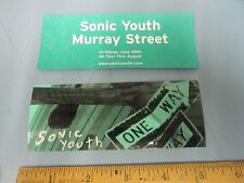 SONIC YOUTH 2002 MURRAY STREET promotional sticker #1 New Old Stock Flawless