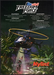 Nylint FREEDOM FORCE__Original 1986 Trade AD / poster__Rescue Chopper_Jack Knife