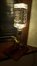 Steampunk Jack Daniels Bottle Brass Touch Lamp Light Industrial Pipe Vintage LED