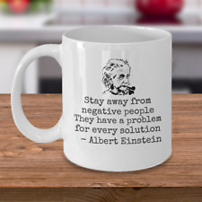 Science Physics coffee mug - Stay away from negative people - Einstein quote cup