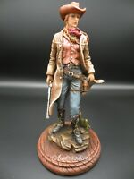 Western Cowgirl   (Gunslinger) Figure Sculpture Statue Hand Painted New