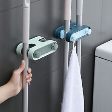 Wall Mounted Mop Brush Broom Organizer Hanger Holder Storage Rack Kitchen Clean