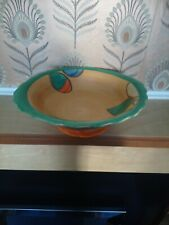 More details for myott and sons art deco hand painted fruit bowl